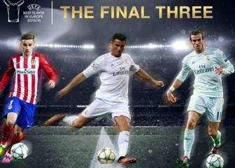 Premio de la UEFA: Gareth Bale, Cristiano Ronaldo o Griezmann
