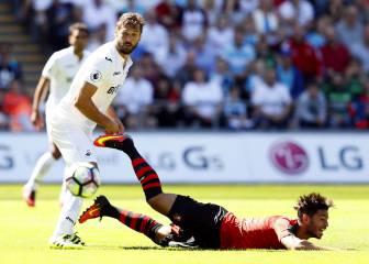 Fernando Llorente debuta como titular con el Swansea