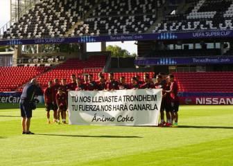 El Sevilla se acuerda de Coke antes de la Supercopa