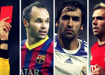 5 grandes jugadores que jamás vieron una tarjeta roja