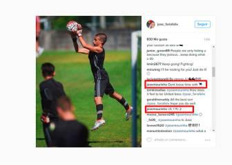 Mourinho se pica con los 'haters' de su hijo en Instagram