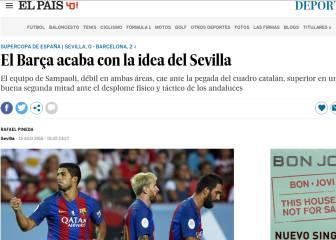 La Prensa ve al Barcelona campeón y ensalza su delantera
