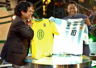 Pelé le tira a Maradona lo de Branco (2005)