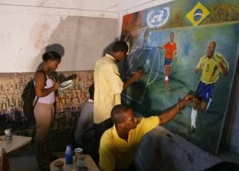Brasil juega en Haití por la paz (2004)