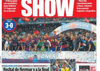 Arda comparte protagonismo con Messi y Bravo
