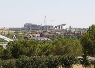 Obras de La Peineta: vistas de la construcción del estadio