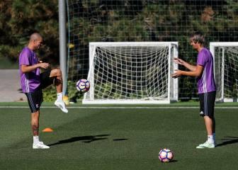 Coentrao y Pepe trabajaron ayer junto al resto del grupo