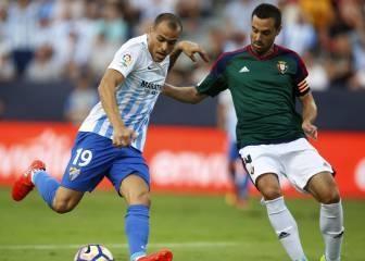 Málaga 1-1 Osasuna: resultado, resumen y goles | Jornada 1