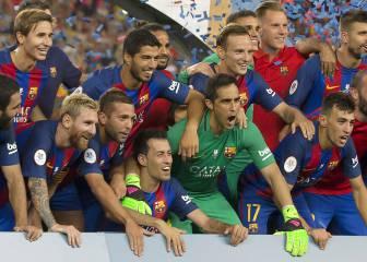 El último servicio de Claudio Bravo en la porteria del Barça
