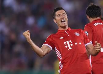 Triplete de Lewandowski para la goleada del Bayern en Copa