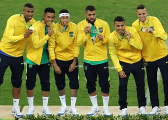 Neymar le da el oro a Brasil