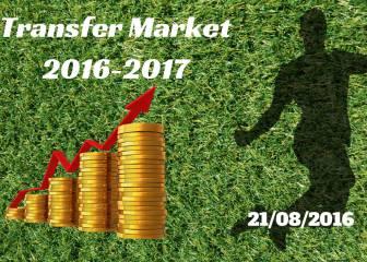 Mercado de Fichajes en directo: resumen del domingo 21/08/2016