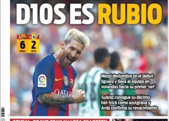 El show de Messi se gana las portadas de Barcelona
