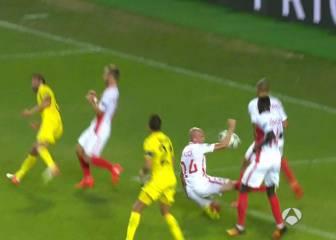 El árbitro no pitó un penalti de Raggi y regaló uno al Mónaco