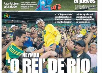 Las vacaciones extra a Neymar, en la prensa de Barcelona