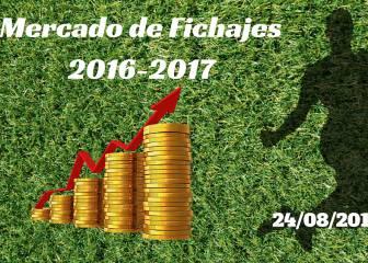 Mercado de Fichajes en directo: resumen del miércoles 24/08/2016