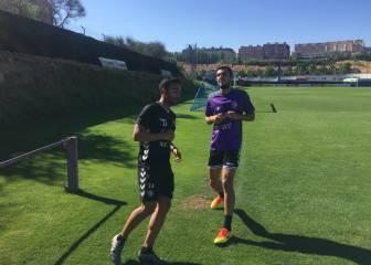 Jordán ya se entrena y podría jugar el domingo en Vallecas