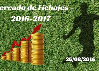 Mercado de Fichajes en directo: resumen del jueves 25/08/2016