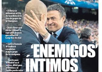 El morbo Guardiola le quita las portadas a Cillesen y Alcácer