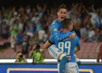El Nápoles tumba al Milán con dobletes de Milik y Callejón