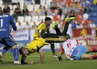Lugo y Zaragoza empatan en un partido de errores defensivos