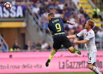 Inter y Roma pinchan: empate con Palermo y Cagliari