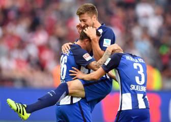 Hertha bate a Freiburg y Leipzig empata con Hoffenheim