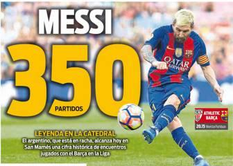 Messi , Ter Stegen y el triunfo del Madrid ocupan la prensa
