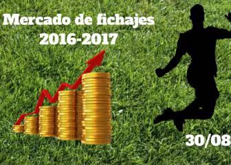 Mercado de Fichajes en directo: resumen del martes 30/08/2016