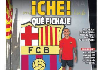 La prensa de Barcelona da trato de estrella a Alcácer
