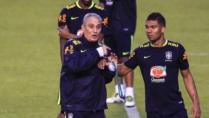 Tite prueba una nueva Brasil con Marcelo y Casemiro de titulares