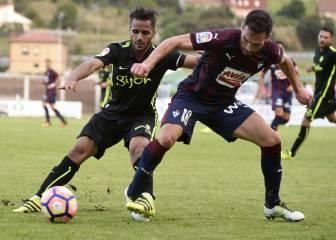 Douglas se lesiona en el empate entre Eibar y Sporting