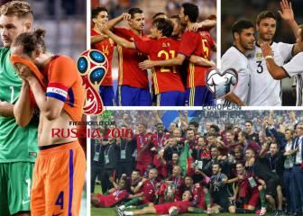 9 selecciones a seguir en la fase de clasificación en Europa