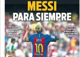 Portadas de Barcelona: Messi, como one club man