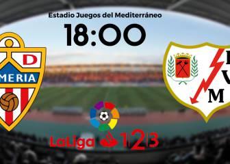 Almería 3 - 0 Rayo: resumen, resultado y goles del partido