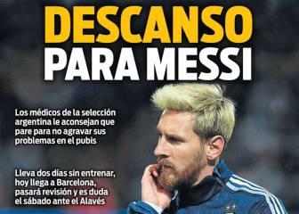 Prensa catalana: Descanso para Messi y loas de Umtiti a Piqué
