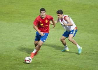 Morata se entrena a buen ritmo pero puede jugar Diego Costa