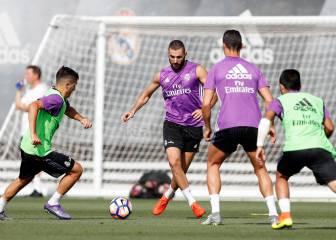 Cristiano y Benzema vuelven a entrenarse con el grupo