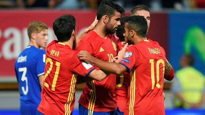 1x1 de la Roja: Costa se entona al ritmo canario de Silva y Vitolo