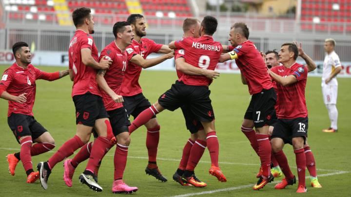 Albania derrota a Macedonia 2-1 en el partido aplazado