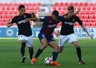 El Huesca supera al Girona en un mal partido de ambos