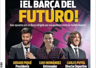 Portadas de Barcelona: Piqué presidente y Xavi entrenador…