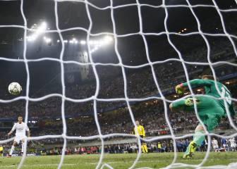 Su última foto de blanco, el penalti de San Siro