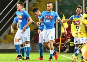 Doblete de Callejón para seguir a la estela de la Juventus
