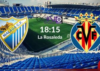 Málaga vs Villarreal: Resumen, goles y resultado