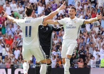 Goleada y liderato del Madrid