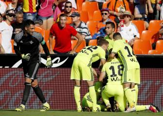 Valencia 2 - 3 Betis: resumen, resultado y goles