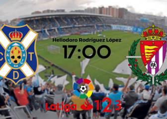 Tenerife vs Valladolid en vivo y en directo online: Jornada 4 LaLiga 1,2,3