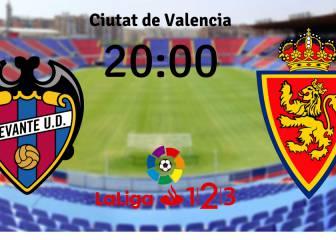 Levante vs Zaragoza en vivo y en directo online: Jornada 4 LaLiga 1,2,3