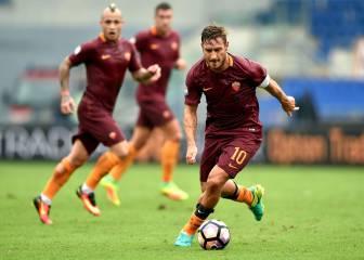 El Roma gana con un inmenso Totti: